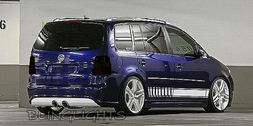 Volkswagen VW Touran Tinted Smoked Taillamps Taillights Tail Lamps Lights Protection Overlays