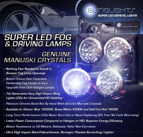 2012 2013 2014 Mazda5 Mazda 5 Blue LED Foglamps Foglights Driving Fog Lamps Lights Kit