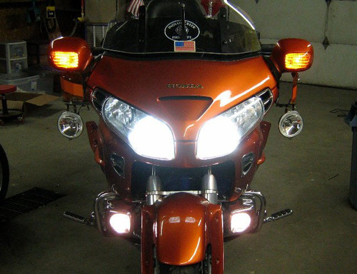 Honda Goldwing GL1800 Super White Headlamp Light Bulbs