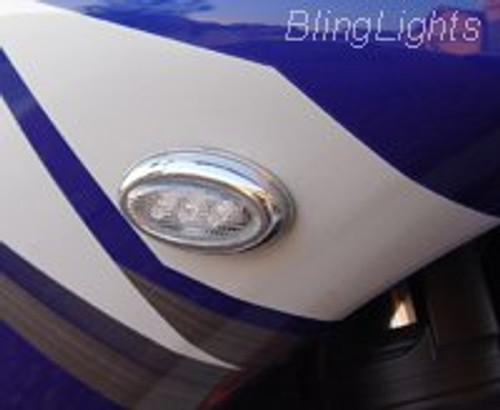 Red LED Flusmount Brake Lights Rear Stop Lamp Indicators Set