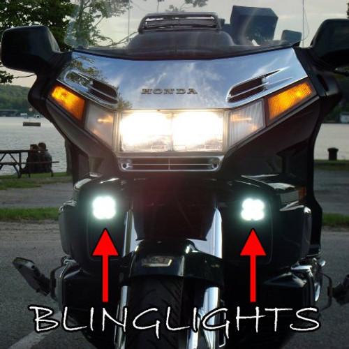 Honda Gold Wing GL1500 Blue LED Fog Lamp Driving Light Kit Chrome Goldwing