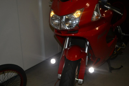 Ducati ST2 ST3 ST4 LED Auxiliary Chrome Flood Light Lamps Kit