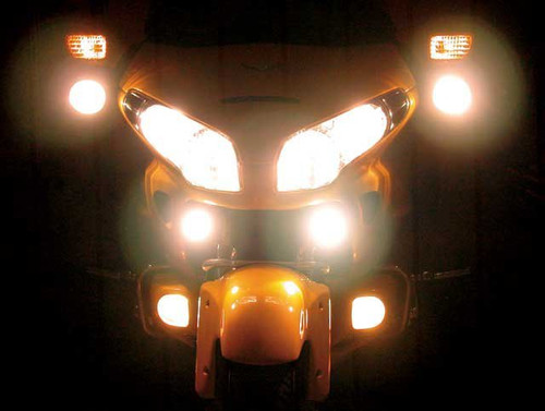 Honda GoldWing GL1800 LED Auxiliary 6000K Lights Lamps Kit