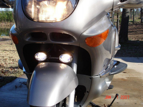 BMW K1200LT LED Flood Lights Auxiliary Lamps Kit