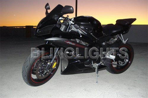 1999 2000 Yamaha R6 YZF-R6 Tint Protection Overlays Film for Headlamps Headlights Head Lamps Lights