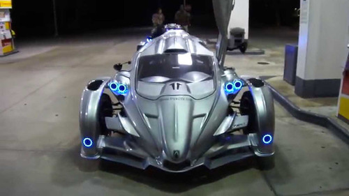6x Blue LED Campagna T-Rex Addon Angel Eye Headlamp Headlight Halo Rings