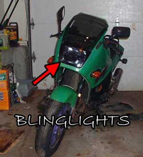 Kawasaki Ninja 500R EX500 GZP500 GPZ 500 Tint Protection Overlay for Headlamp Headlight Head Lamp