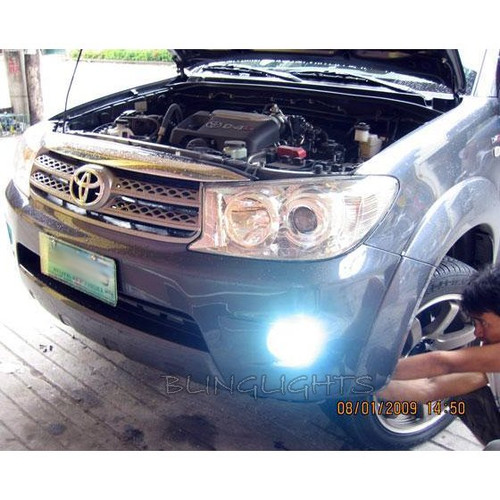 2009 2010 2011 2012 Toyota Fortuner Halo Foglamps Angel Eye Foglights Fog Lamps Driving Lights Kit
