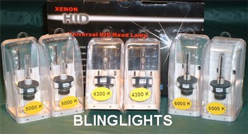 1999-2006 BMW X5 e53 Replacement Xenon HID Light Bulbs for Headlamps Headlights Head Lamps Lights