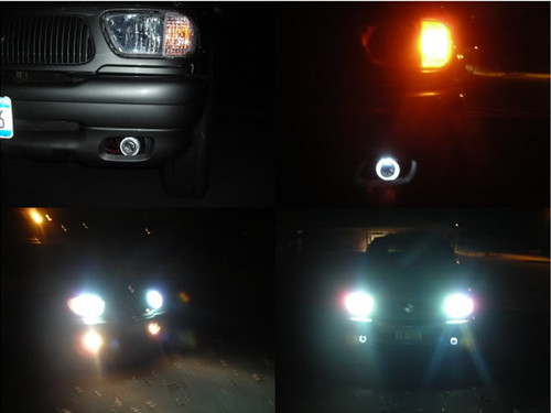 1998 1999 2000 2001 Mercury Mountaineer Halo Fog Lights Lamps