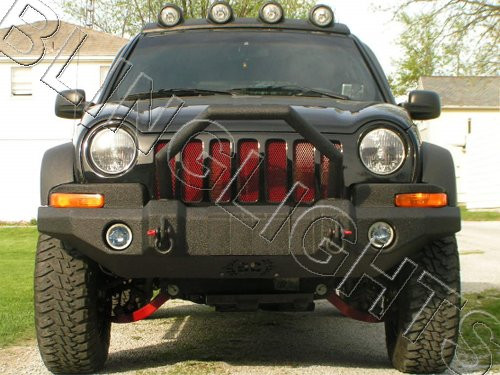 Jeep Liberty ARB Bumper Halo Foglamps Angel Eye Foglights Fog Lamps Driving Lights Kit