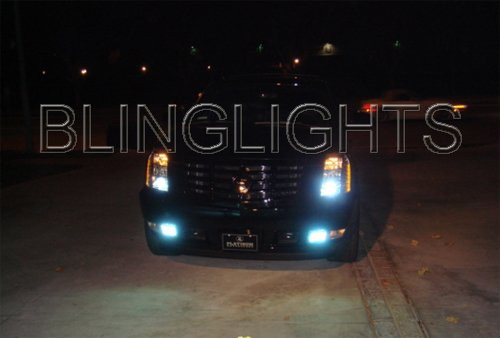 2007 2008 2009 2010 2011 Cadillac Escalade White Bulbs Fog Lamps Driving Lights ESV EXT
