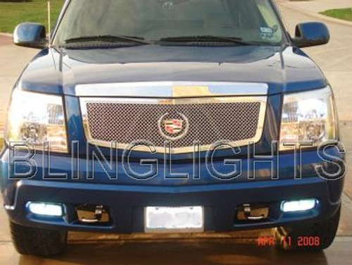 2002 2003 2004 2005 2006 Cadillac Escalade White Bulbs Fog Lamps Driving Lights ESV EXT