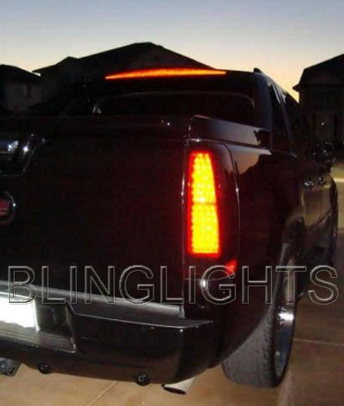 2007 2008 2009 2010 2011 2012 Cadillac Escalade Tinted Smoked Taillamps Taillights Film Overlays