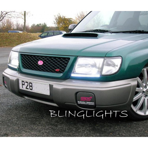 1998-2002 Subaru Forester LED DRL Head Lamp Light Strips Kit