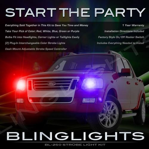 Ford Explorer Police Head Lamp Strobe Light Kit Red White Blue Green Purple