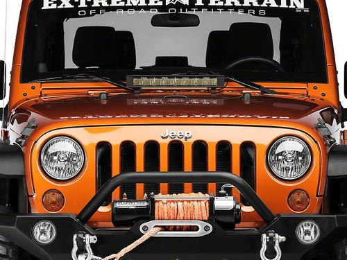 "Jeep Wrangler PIAA 6000K 18"" 64W LED Driving Light Bar"