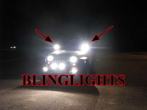Jeep Wrangler JK TJ YJ Off-Road Windshield Side Mirror Auxiliary Driving Lamps Hood Lights Kit