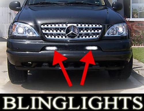 1998 1999 2000 2001 2002 2003 2004 2005 Mercedes-Benz M-Class W163 Fog Lamps Driving Lights Kit