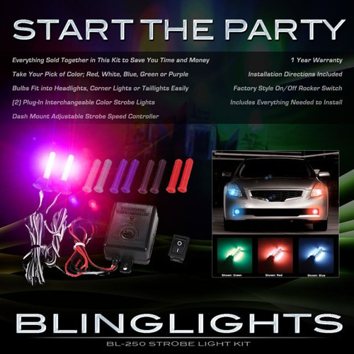 Ford Edge Strobe Police Show Light Kit for Headlamps Headlights Head Lamps Lights Strobes