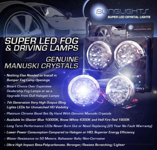 2002-2009 GMC Envoy Rear Blue LED Bumper Lamps Backup Reverse Lights