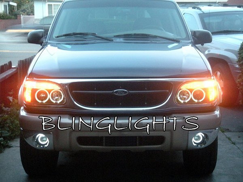 1999 2000 2001 Ford Explorer Halo Foglamps Angel Eye Foglights DrivingLights Kit