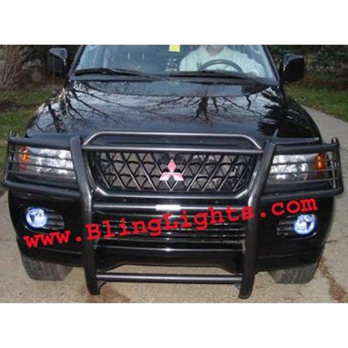 2001 2002 2003 2004 Mitsubishi Montero Sport Xenon Foglamps Foglights Fog Lamps Driving Lights Kit