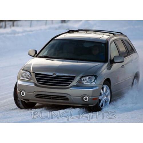 2004 2005 2006 2007 2008 Chrysler Pacifica Halo Foglamps Angel Eye Fog Lamps Driving Lights Kit