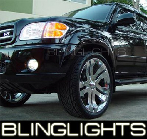 2001-2007 Toyota Sequoia Halo Fog Lights Driving Lamps Pair