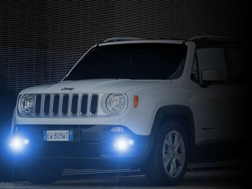 2015 2016 2017 2018 Jeep Renegade LED Angel Eye Halo Fog Lamps Lights Kit
