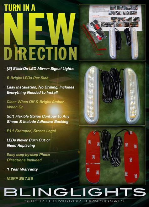 Jeep Renegade Latitude LED Side Mirror Turnsignal Lights Signalers Kit