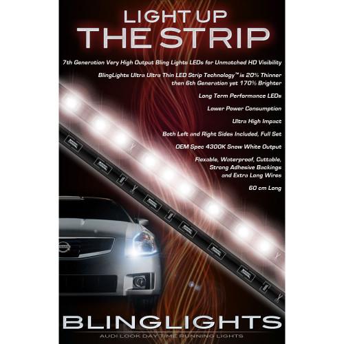 Subaru Tribeca LED DRL Head Lamp Light Strips Kit Day Time Running