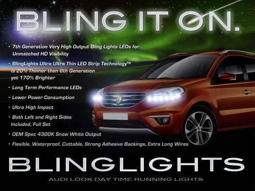 Renault Koleos LED DRL Head Light Strips Day Time Running Lamps Kit