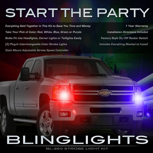 Chevrolet Suburban Head or Tail Lamps Strobe Lights Kit Police Red White Blue