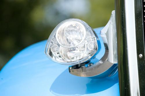 (2) Big Rig Custom American Iron Horse Headlights PIAA Chrome H4 LED Hi/Lo X0773