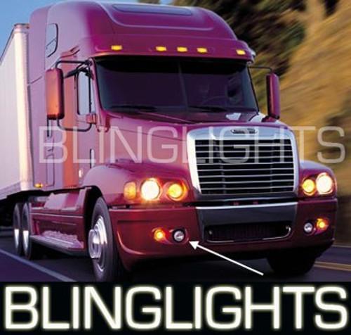 Freightliner Century White LED Halo Fog Lamps Angel Eye Driving Lights Foglamps Foglights Drivinglights Kit