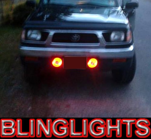 1995 1996 1997 Toyota Tacoma White Halo Bumper Fog Lamps Lights
