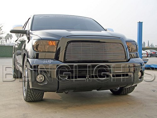 07-13 Toyota Tundra Tinted Head Light Lamp Overlays Kit Smoked Protection Film