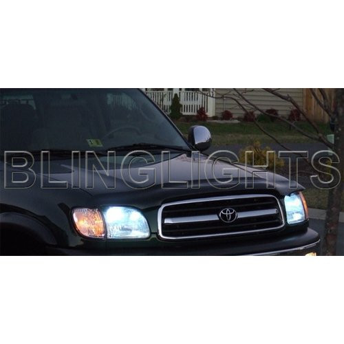 2000 2001 2002 Toyota Tundra Bright White Light Bulbs for Headlamps Headlights Head Lamps Lights