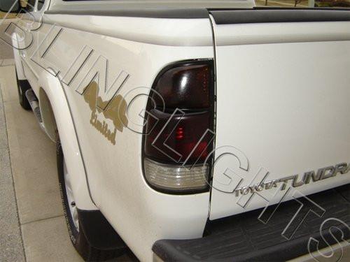 2000-2002 Toyota Tundra Tinted Tail Lamp Light Overlays Kit Film Protection