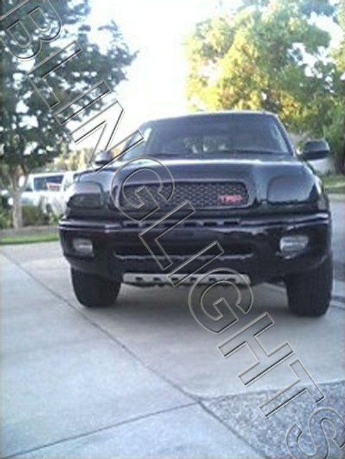 00-02 Toyota Tundra Tinted Head Lamp Light Overlays Kit Smoked Protection Film