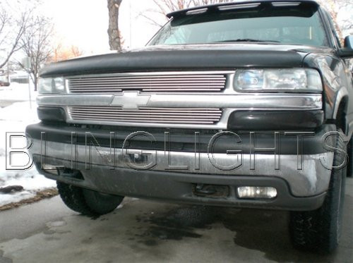 1999-2002 Chevy Silverado Tinted Head Lamp Light Overlay Kit Smoked Film Protection
