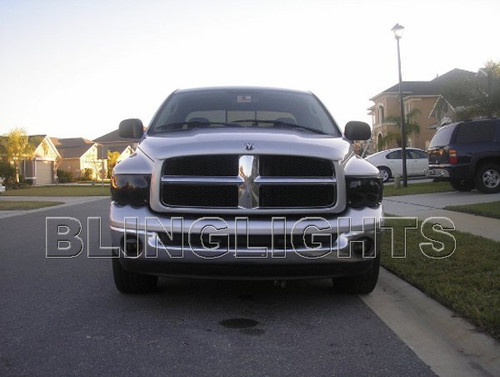 2002 2003 2004 2005 Dodge Ram Tint Protection Film for Smoked Headlamps Headlights