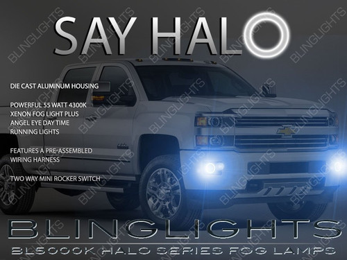 2015 2016 2017 2018 2019 Chevrolet Silverado 2500 3500 HD Halo Fog Lamps