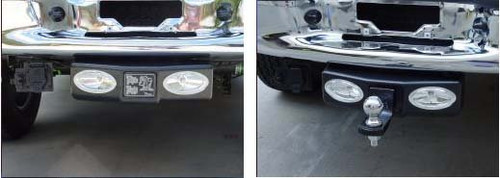 """WhiteNight Rear Fixed Mount Unit 0004199 2"""" Tow Hitch Trailer Reverse Lamps Towing Lights Backup"""