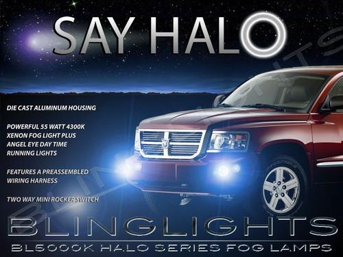 2008 2009 2010 2011 Dodge Dakota Halo Angel Eye Fog Lamps Lights