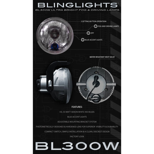 2008 2009 2010 Ford F250 F-250 Super Duty Xenon Fog Lamps Driving Lights Foglamps Foglights Kit