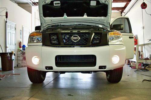 White Halo LED Fog Lamps Driving Lights Kit for 2004-2015 Nissan Titan