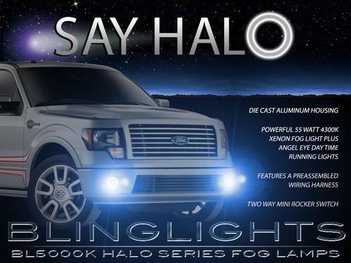 2009-2014 Ford F150 Halo Fog Lamp Driving Light Kit F-150 Angel Eye
