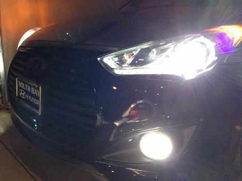 White LED Halo Fog Lamps Angel Eye Lights Kit For 2013-2018 Hyundai Veloster Turbo